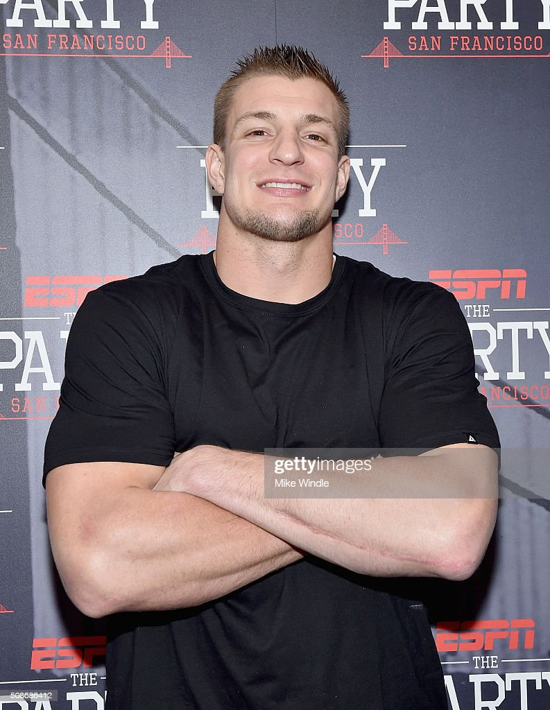 Football player <a gi-track='captionPersonalityLinkClicked' href=/galleries/search?phrase=Rob+Gronkowski&family=editorial&specificpeople=5534525 ng-click='$event.stopPropagation()'>Rob Gronkowski</a> attends ESPN The Party on February 5, 2016 in San Francisco, California.