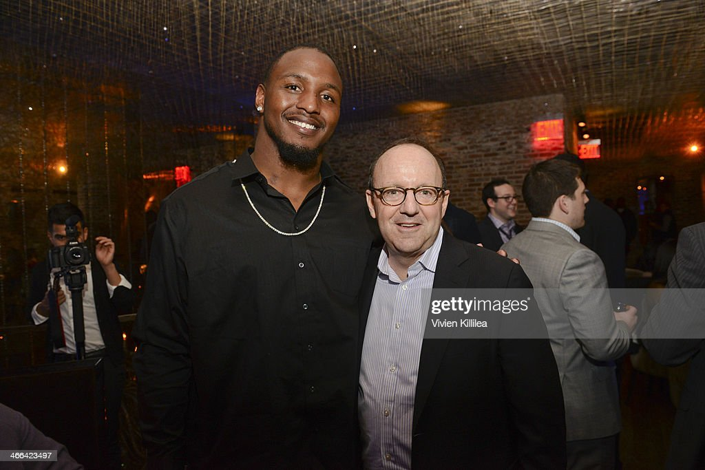 Football player Robert Quinn and CEO of MWW Michael Kempner attend KWL's 4th Annual Sports And Entertainment Celebration Honoring NFL's Rising Stars Colin Kaepernick And Robert Quinn at Manon on January 30, 2014 in New York City.