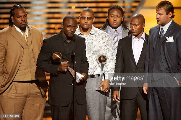 Football player Santonio Holmes onstage during the 17th annual ESPY Awards held at Nokia Theatre LA Live on July 15 2009 in Los Angeles California...