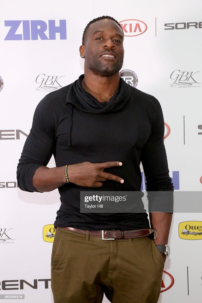 Football player Simeon Rice attends day one of the Kia Luxury Lounge presented by ZIRH at Scottsdale Center for Performing Arts on January 30 2015 in...