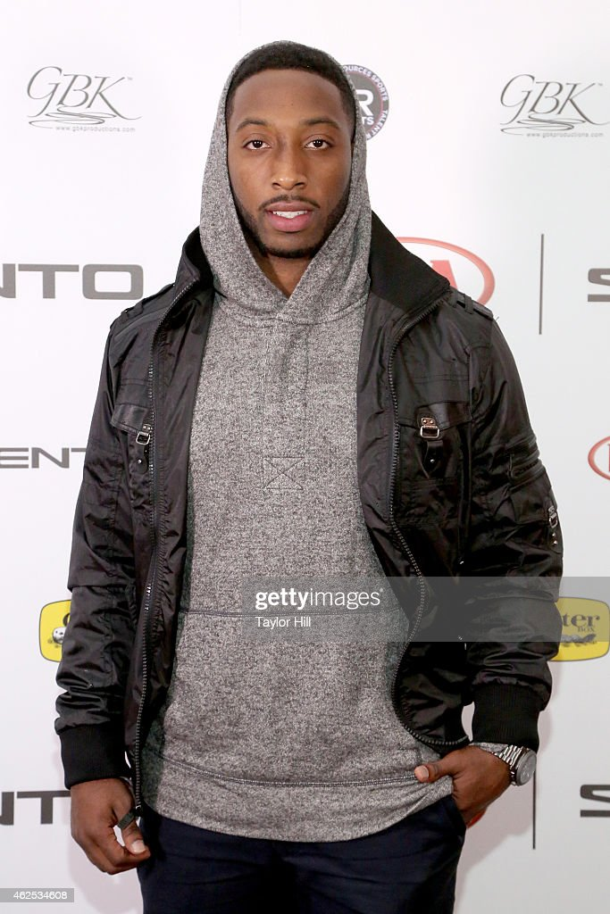 Football player Stepfan Taylor attends day one of the Kia Luxury Lounge presented by ZIRH at Scottsdale Center for Performing Arts on January 30 2015...