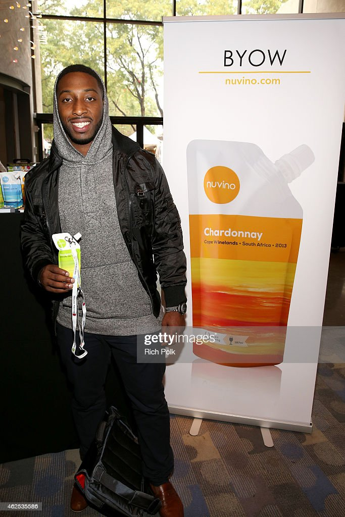 Football player Stepfan Taylor attends day one of the Kia Luxury Lounge presented by ZIRH at Scottsdale Center for Performing Arts on January 30, 2015 in Scottsdale, Arizona.