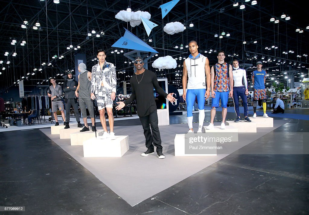 NFL football player Terrell Owens unveils his new fashion brand Prototype 81 Collection Preview at Jacob Javits Center on July 18, 2016 in New York City.