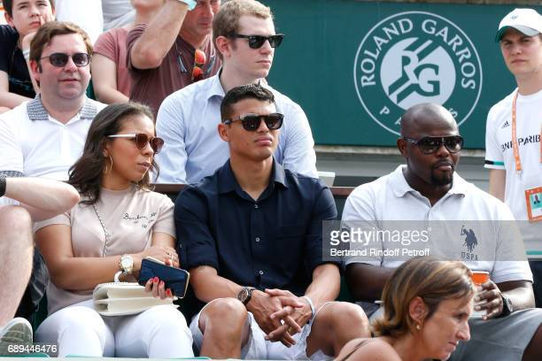 Football player Thiago Silva attends the 2017 French Tennis Open Day One at Roland Garros on May 28 2017 in Paris France