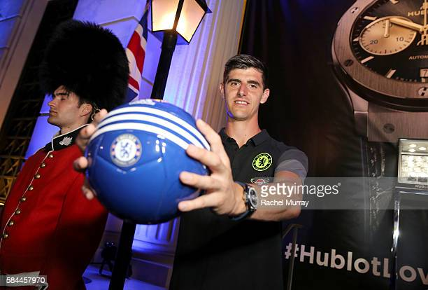 Football Player Thibaut Courtois attends Hublot x Chelsea FC event in Los Angeles at Sony Pictures Studios on July 28 2016 in Culver City California