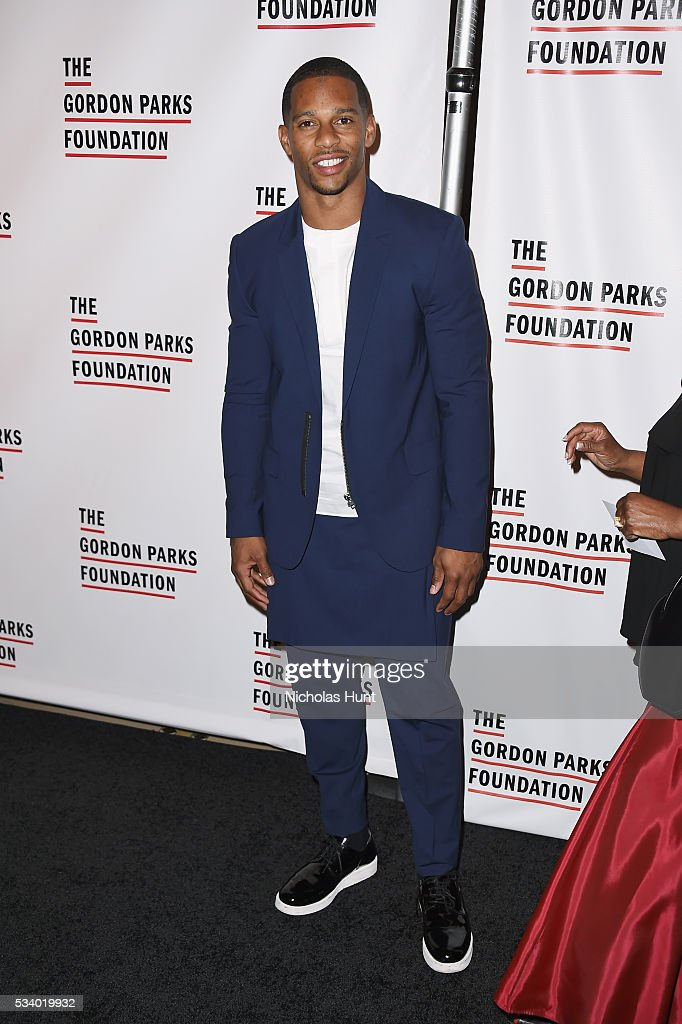 Football player Victor Cruz attends the 2016 Gordon Parks Foundation awards dinner at Cipriani 42nd Street on May 24 2016 in New York City