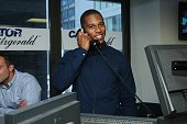 Football player Victor Cruz attends the annual Charity Day hosted by Cantor Fitzgerald and BGC at Cantor Fitzgerald on September 11 2015 in New York...