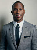 Football player Victor Cruz is photographed for Self Assignment on September 11 2012 in New York City