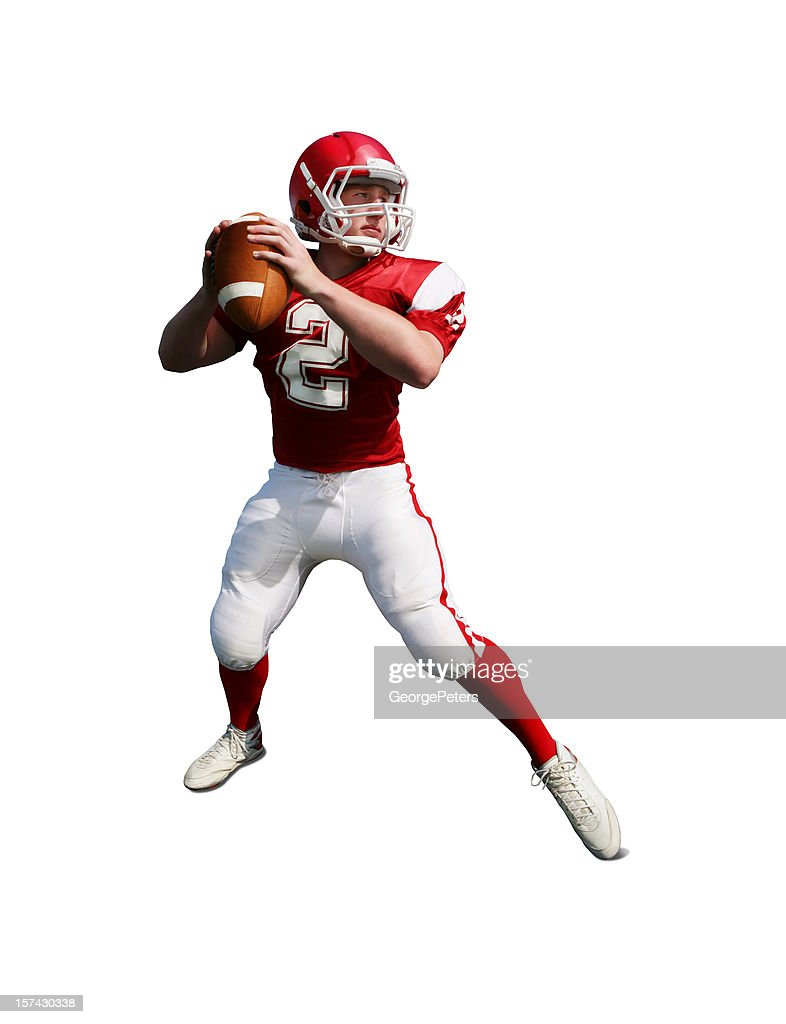 Football Player with Clipping Path