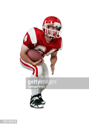 Football Player with Clipping Path : Stock Photo