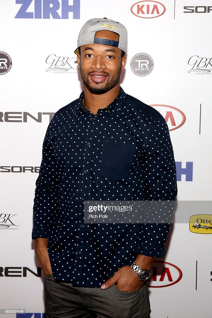 Football playerJalil Brown attends day one of the Kia Luxury Lounge presented by ZIRH at Scottsdale Center for Performing Arts on January 30 2015 in...
