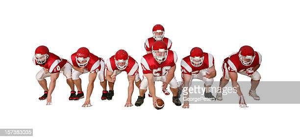 Football Players with Clipping Path