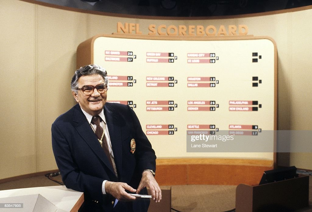 Portrait of CBS Sports media announcer and reporter on The NFL Today show Jimmy The Greek Snyder at CBS Studios New York NY 6/22/1980 CREDIT Lane...