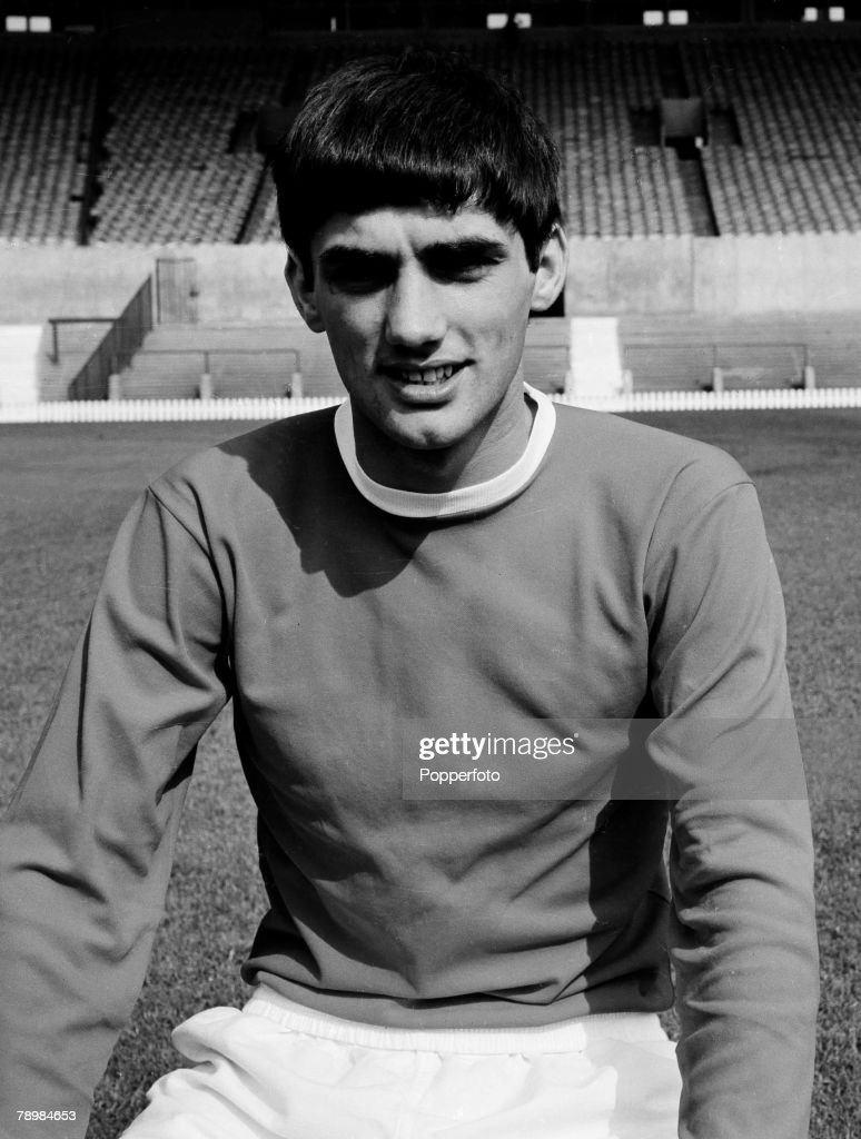 Football 1965 Portrait of George Best of Manchester United