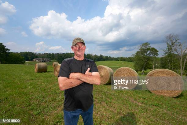 Portrait of Minnesota Vikings head coach Mike Zimmer posing during photo shoot at home Walton KY CREDIT Bill Frakes