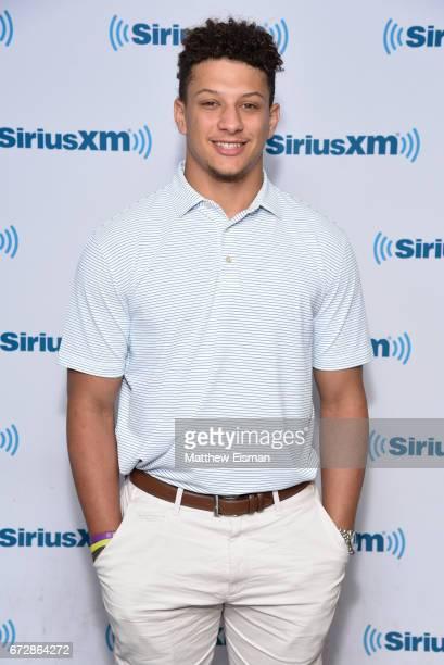 Football quarterback and NFL draft prospect Patrick Mahomes visits SiriusXM Studios on April 25 2017 in New York City