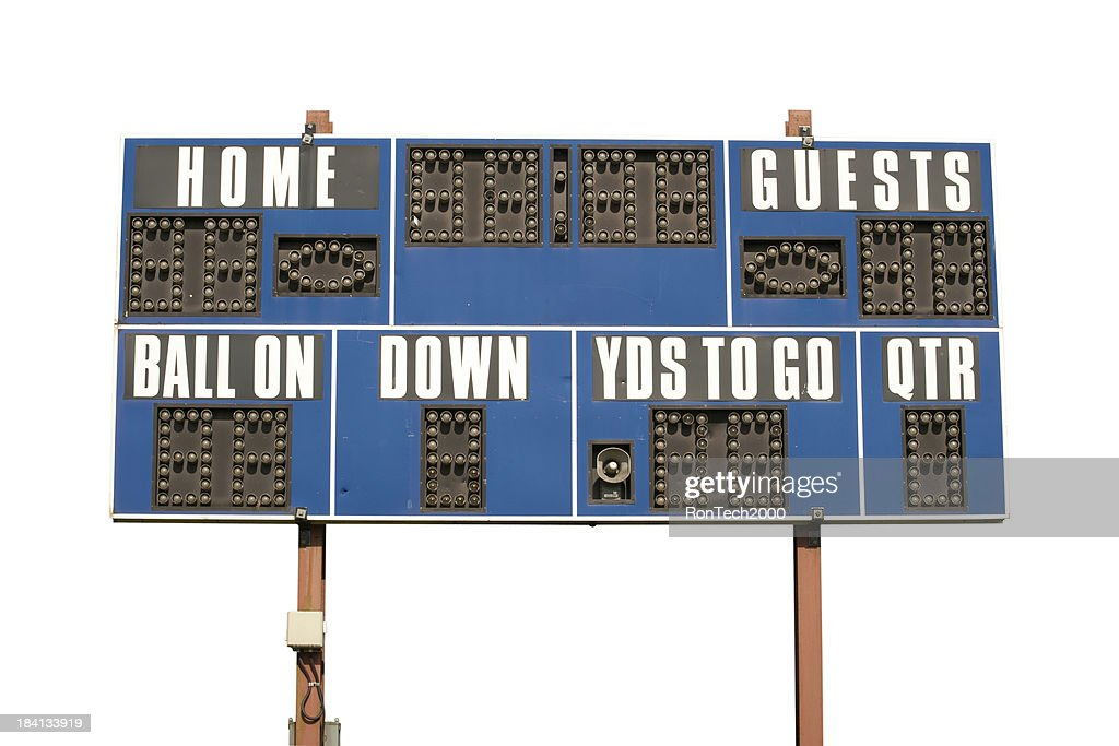 Football Scoreboard Isolated on White