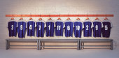 Football Shirts in Dressing Room