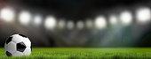 football soccer stadium background. 3D render football