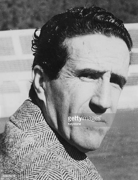 Football strategist manager and coach of the Inter Milan team Helenio Herrera