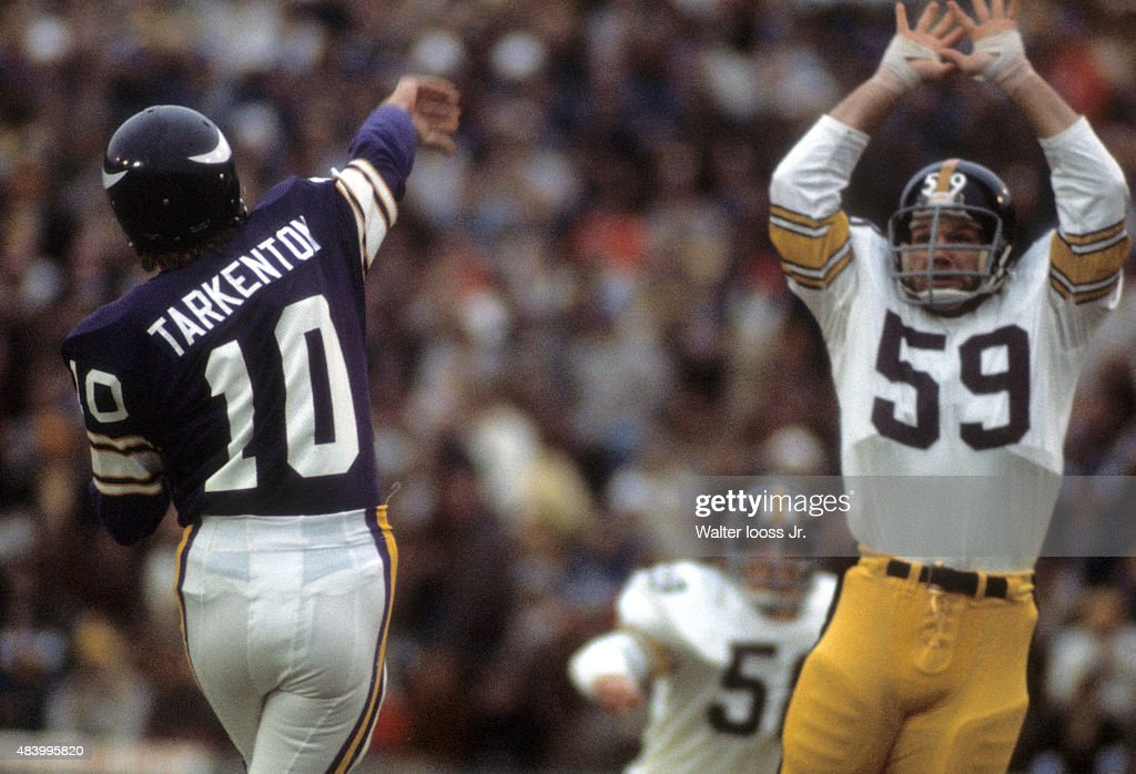 896d8179b25 Pictures Getty Images Pittsburgh Steelers Jack Ham (59) in action, defense  vs Minnesota Vikings QB Fran Pittsburgh Steelers 59 Jack Ham Black Player  ...