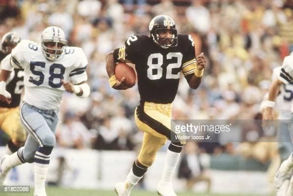 Football Super Bowl XIII Pittsburgh Steelers John Stallworth in action vs Dallas Cowboys Miami FL 1/21/1979