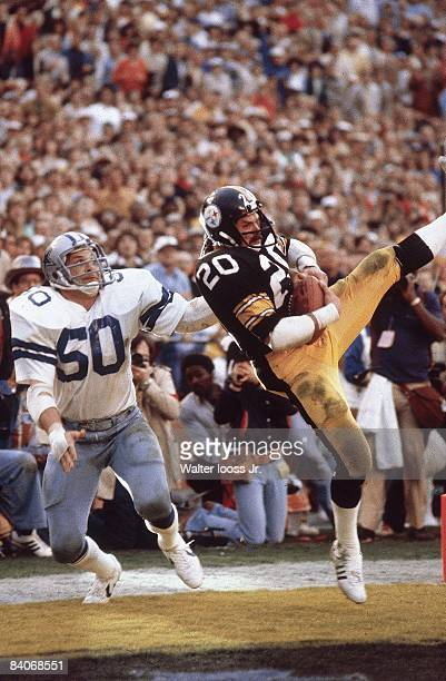 Super Bowl XIII Pittsburgh Steelers Rocky Bleier in action making touchdown catch vs Dallas Cowboys Miami FL 1/29/1979 CREDIT Walter Iooss Jr