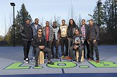 Super Bowl XLIX Preview Casual portrait of Seattle Seahawks defensive backs Byron Maxwell Kam Chancellor Earl Thomas Steven Terrell Jeremy Lane...
