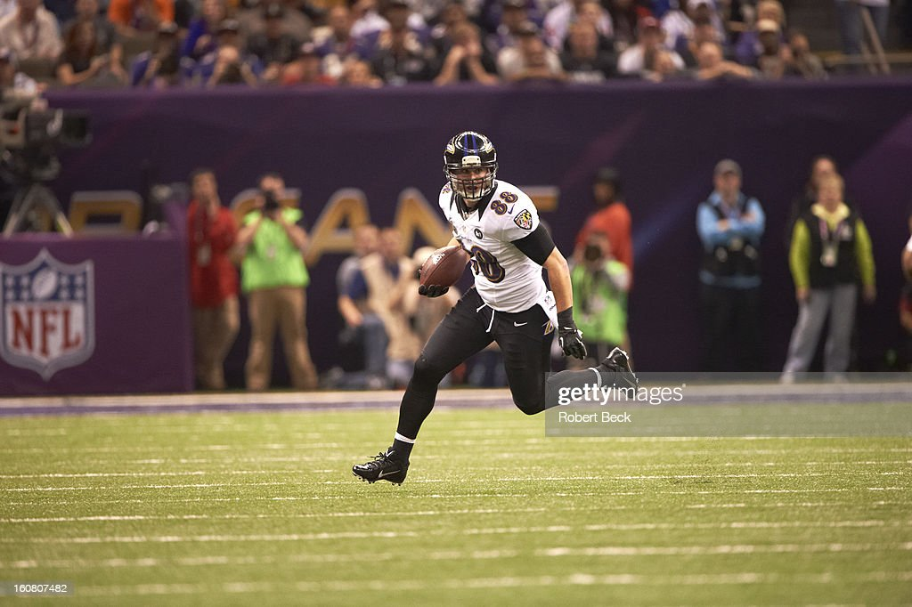 Baltimore Ravens <a gi-track='captionPersonalityLinkClicked' href=/galleries/search?phrase=Dennis+Pitta&family=editorial&specificpeople=5516841 ng-click='$event.stopPropagation()'>Dennis Pitta</a> (88) in action vs San Francisco 49ers at Mercedes-Benz Superdome. Robert Beck F194 )