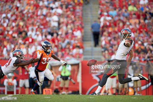 Tampa Bay Buccaneers Bryan Anger in action punting vs Denver Broncos at Raymond James Stadium Tampa FL CREDIT Kevin Liles