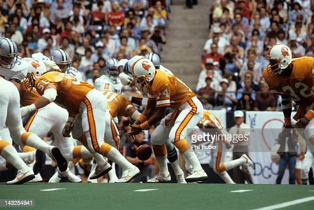 Tampa Bay Buccaneers QB Jack Thompson in action making fumble recovery vs Dallas Cowboys at Texas Stadium Irving TX CREDIT Phil Huber