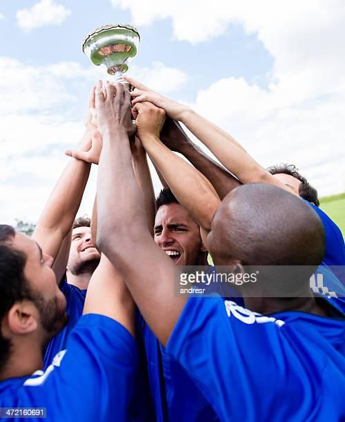 Équipe de Football célébrant une victoire