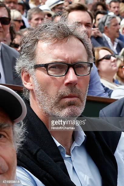 Football Team Coach Laurent Blanc attends the 2015 Roland Garros French Tennis Open Day Five on May 28 2015 in Paris France