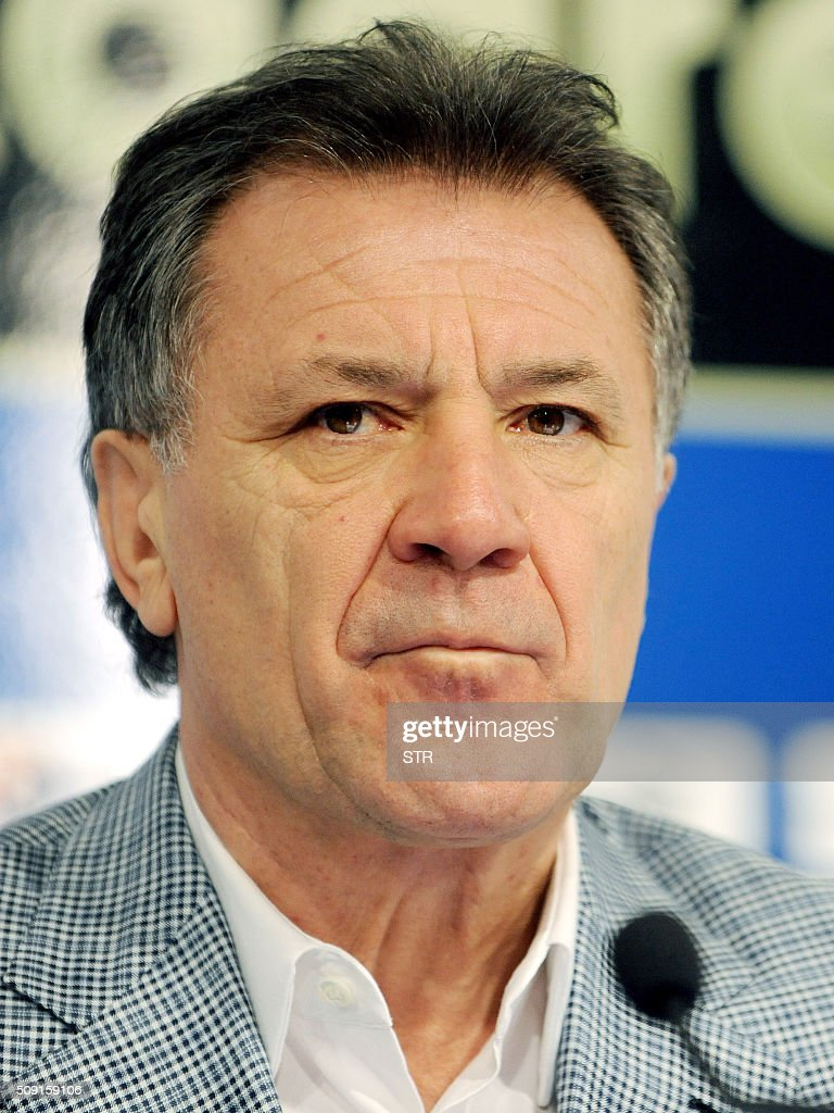 Football team Dinamo Zagreb chief Zdravko Mamic holds a press conference where he announced his resignation at the club's headquarters, in Zagreb, on February 9, 2016. Dinamo Zagreb chief Zdravko Mamic resigned on February 9, 2016 a day after Croatian national anti-graft prosecutors opened another multi-million-euro probe against him. On February 8, the national anti-graft USKOK bureau said it was probing Mamic and six other people including his brother Zoran, who is Dinamo coach, son Mario and former director Damir Vrbanovic. They are alleged to have embezzled nearly 70 million kunas (nine million euros, $10.3 million) of Dinamo Zagreb's money through fictitious deals related to player transfers. / AFP / STR