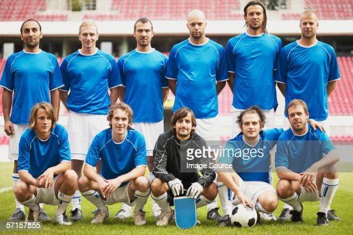 Football team in blue