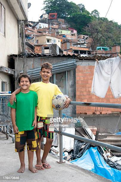 Coéquipiers de Football brésilien Bidonville, Rio de Janeiro