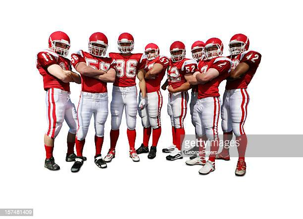 Football Team with Clipping Path