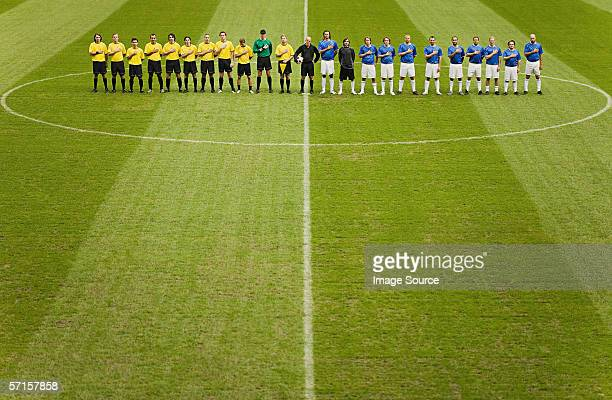 Football teams on the pitch