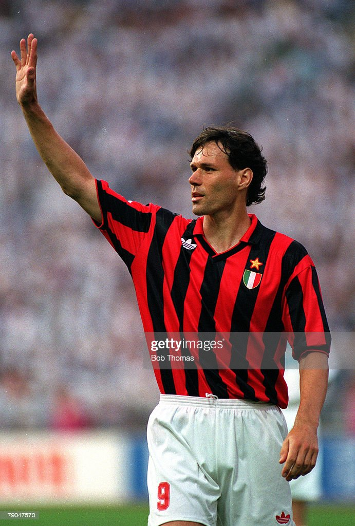 Football UEFA Champions League Final Munich Germany 26th May 1993 Marseille 1 v AC Milan 0 AC Milan's Marco van Basten
