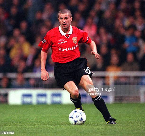 Football UEFA Champions League Quarterfinal 1st Leg 4th April 2000 Madrid Spain Real Madrid 0 v Manchester United 0 Manchester United's Roy Keane on...