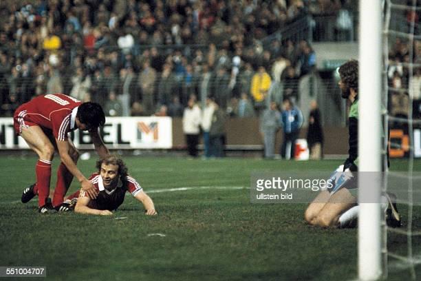 football UEFA Cup Europa League 1979/1980 final first leg Stadium am Boekelberg Borussia Moenchengladbach versus Eintracht Frankfurt 32 scene of the...