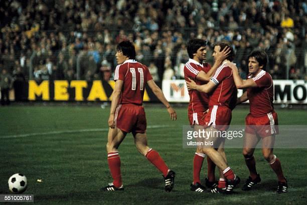 football UEFA Cup Europa League 1979/1980 final first leg Stadium am Boekelberg Borussia Moenchengladbach versus Eintracht Frankfurt 32 Frankfurt...