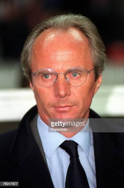 Football UEFA Cup Final Paris France 6th May 1998 Inter Milan 3 v Lazio 0 Lazio coach Sven Goran Eriksson