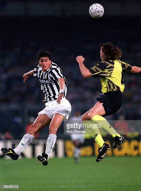Football UEFA Cup Final Second Leg Turin Italy 19th May 1993 Juventus 3 v Borussia Dortmund 0 Dino Baggio of Juventus who scored two goals on the...