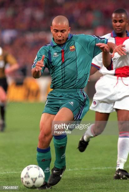 Football UEFA Cup Winners Cup Final Rotterdam Holland 14th May 1997 Barcelona 1 v Paris St Germain 0 Barcelona's Ronaldo
