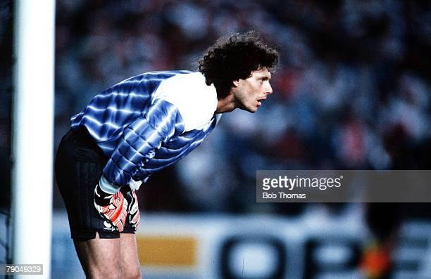 Football UEFA Cup Winners Cup Final Strasbourg France 11th May 1988 Mechelen 1 v Ajax Amsterdam 0 Mechelen goalkeeper Michel Preud'Homme