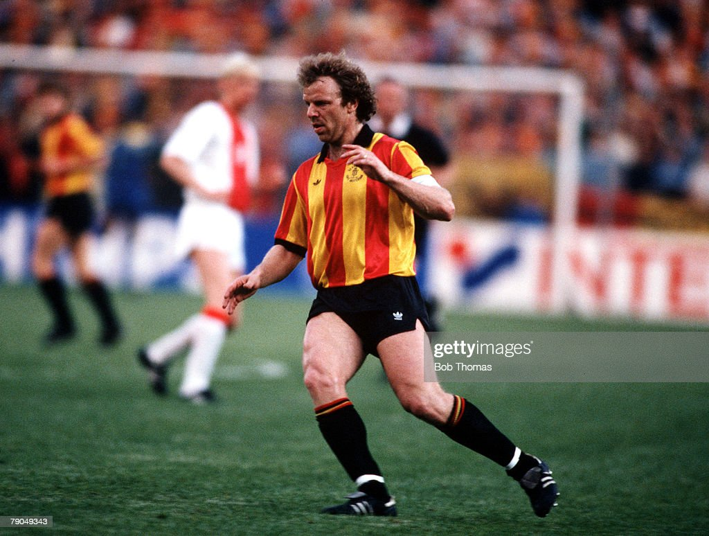 Football, UEFA Cup Winners Cup Final, Strasbourg, France, 11th May 1988, Mechelen 1 v Ajax Amsterdam 0, Mechelen captain Leo Clijsters