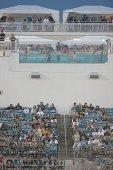 View of pool inside EverBank Field during Jacksonville Jaguars vs Tampa Bay Buccaneers preseason game at EverBank Field Jacksonville FL CREDIT Gary...