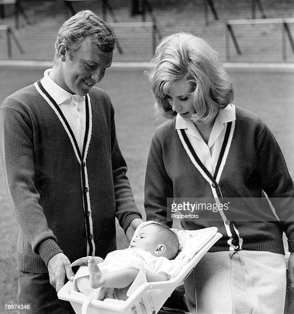 Football West Ham United and England captain Bobby Moore with his wife Tina and daughter Roberta at Upton Park