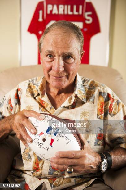 Where Are They Now Portrait of former AFL and NFL QB Babe Parilli posing during photo shoot at home Denver CO CREDIT Lucas J Gilman